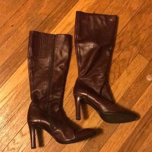Brown J. Crew knee high leather boots